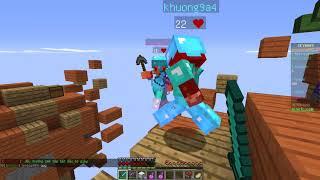 Minecraft | SkyWar 2 lần top 1 | Rim