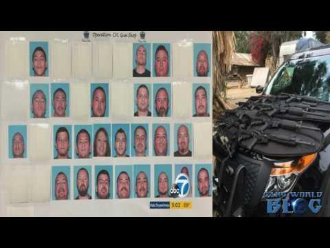52 Members of Corona Varrio Locos and La Eme arrested in Gang Raids targeting Firearms (Corona, CA)