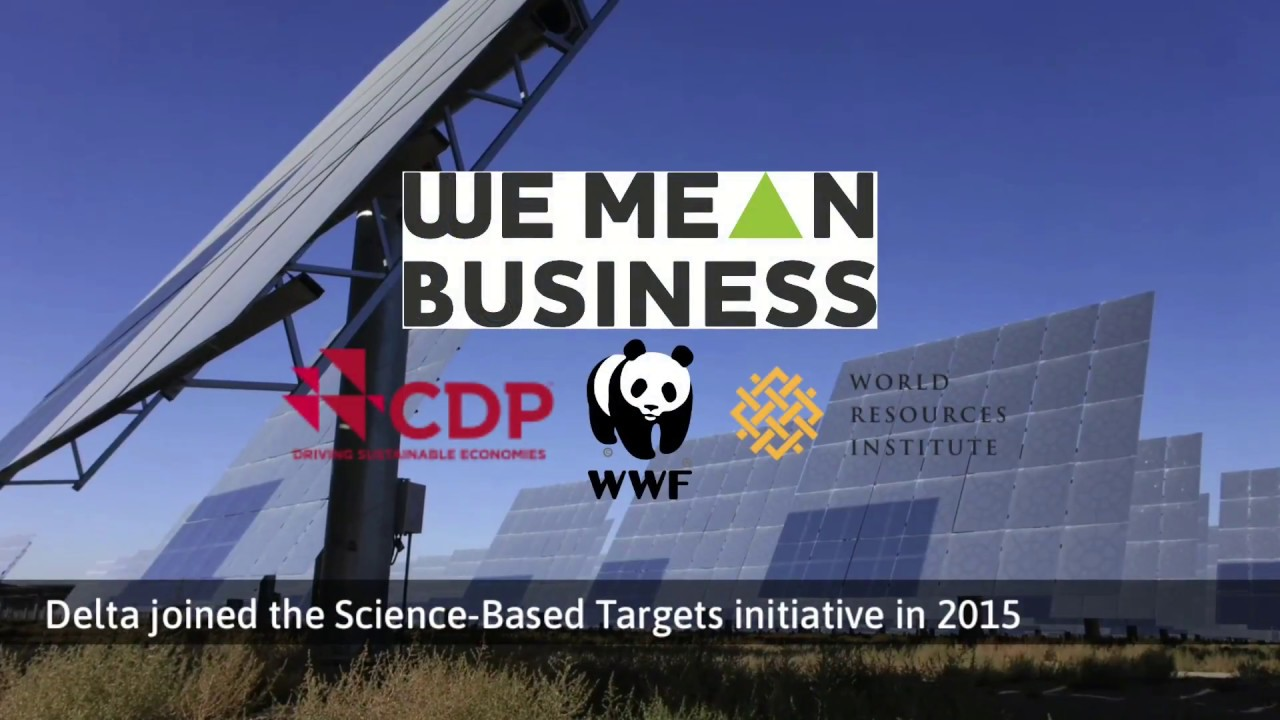 Delta Electronics Passed Science Based Targets Initiative Sbti