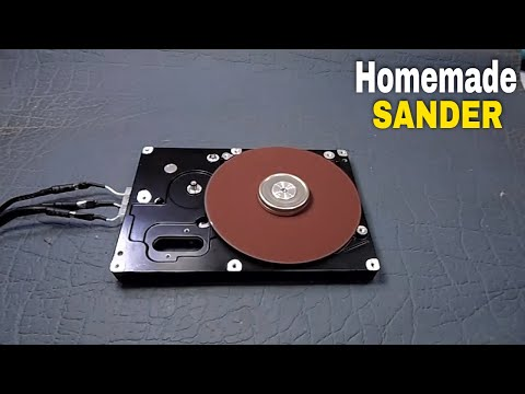 how to make sander (old hard disk using 4 wire motor)