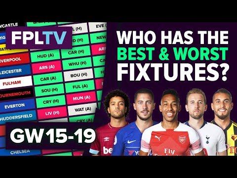 Who Has The Best Fixtures? | Gameweek 15-19 | FPL FIXTURE WATCH | Fantasy Premier League