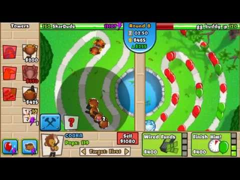 Beating a hacker with unlimited lives!!! Bloons Tower Defense Battles
