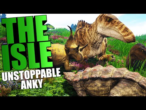 The Isle - ANKY PREY STALKING, UNSTOPPABLE ANKYLOSAURUS HERD (The Isle Funny Moments Gameplay)