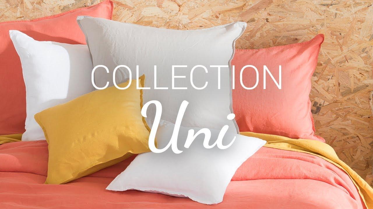 collections de linge de lit uni carre blanc
