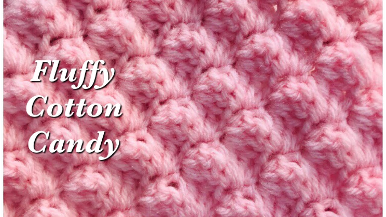 How to Crochet   Fluffy Cotton Candy Crochet Stitch   Textured double  crochet  Crochet for Baby 12