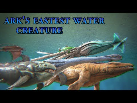 Which one is ARK's fastest WATER Creature? - Big RACE with all Water  Dinosaurs || Cantex