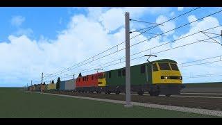 Roblox - The Rail Hub - Class 90 on test.