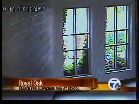 Video of man lurking outside Royal Oak Middle School