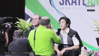 Nathan Chen   Skate America SP kiss&Cry