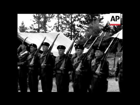 FIELD MARSHALL HARDING VISITS THE WILTSHIRE REGIMENT - NO SOUND