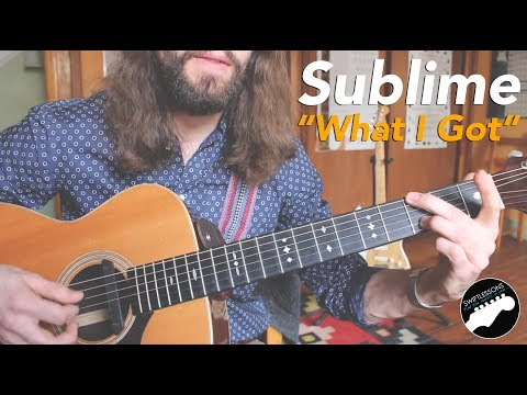 Sublime What I Got  Super Easy Beginner Guitar Lesson w solo!