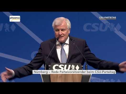 Rede Horst Seehofer auf dem CSU-Parteitag am 16.12.2017