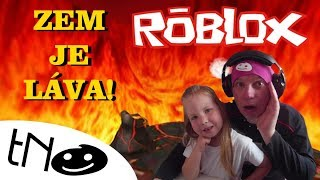 ZEM IS THE LAVA CHALLENGE! -The Floor Is Lava | Roblox | Daddy and Barunka CZ/SK