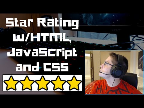 5 Star Rating With JavaScript, HTML, And CSS Part 1