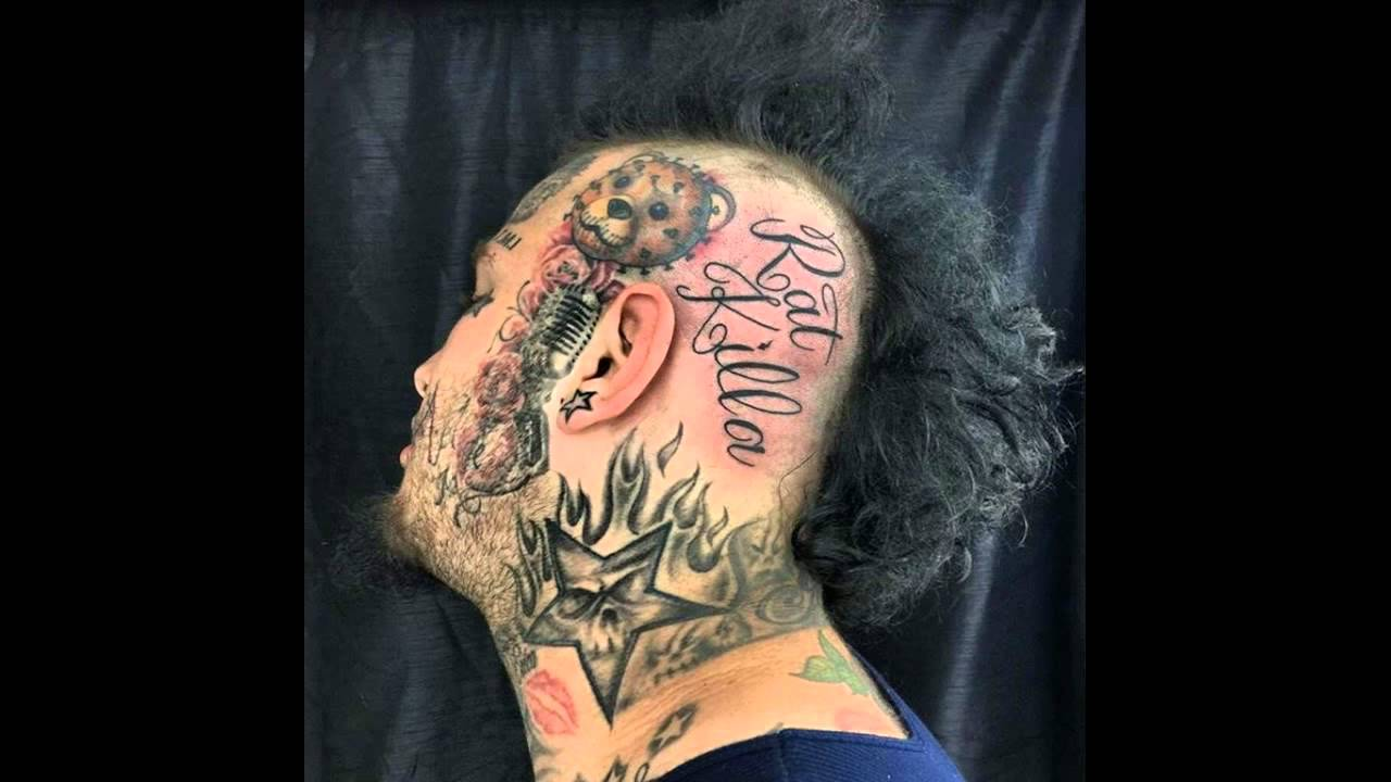 White Gangster Rapper Stitches Says All Rats Must Die Gets Ratkilla Tattoo On His Head Youtube
