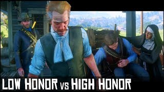 Low Honor vs High Honor - Arthur Gets Advice About His Disease From Sister & Reverend  - RDR2