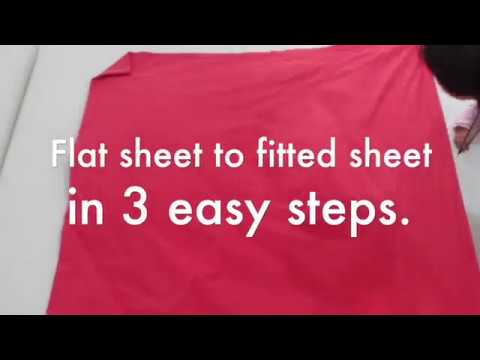 Convert Flat Sheet To Fitted Sheet In 3 Easy Steps Youtube