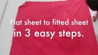 Convert Flat sheet to fitted sheet in 3 easy steps
