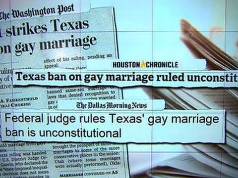 Texas ban on same-sex marriage unconstitutional, federal judge rules