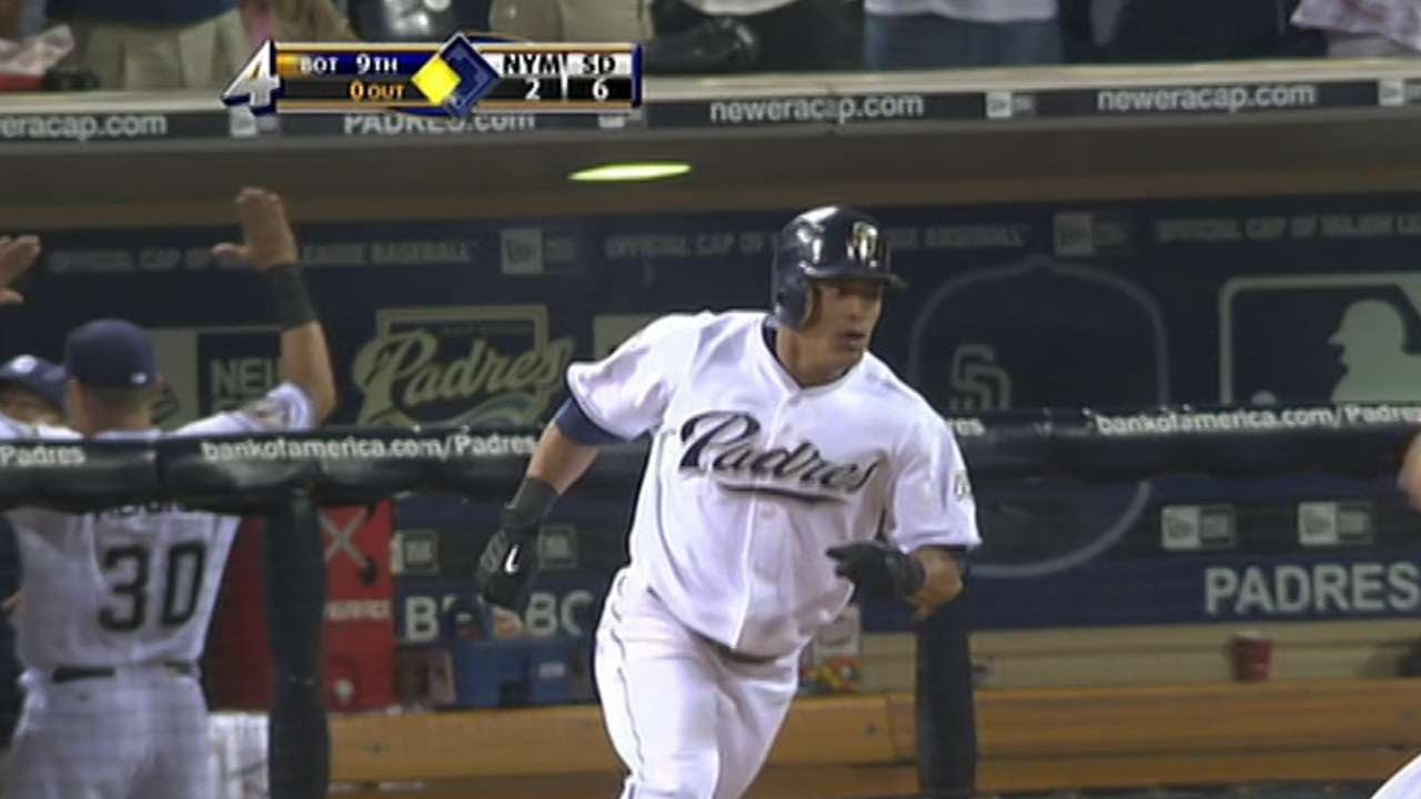 a3ff2ca22df Cabrera s walk-off slam pushes Padres to win - YouTube