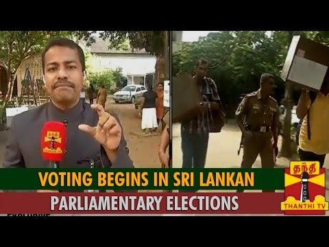 Special Report From Colombo : Voting Begins in Sri Lankan Parliamentary Elections - Thanthi TV