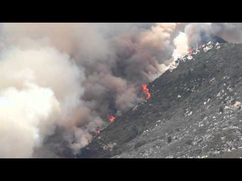 Mountain Fire (raw footage)
