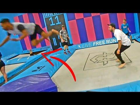 the worst super trampoline accident ive witnessed.. ER visit