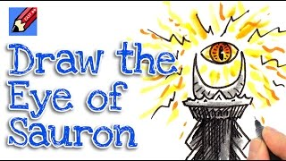 How to draw the eye tower of Sauron Real Easy - Lord of the Rings