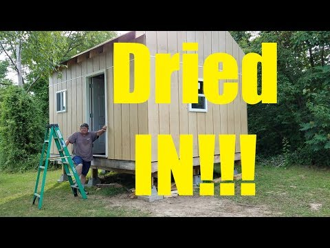 12x16 Off Grid Cabin pt 11 - Dried in & Interior