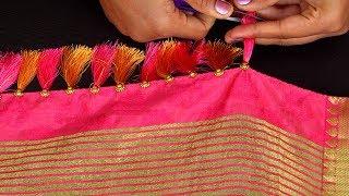 பட்டு புடவைக்கு சுங்கு செய்வது எப்படி? | How to Make Kuchu/Sungu for Saree Simple Step-by-Step