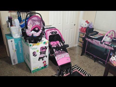 Disney Minnie Mouse Stroller Car Seat Open Box & Assembling
