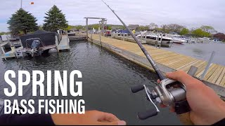 Finesse Fishing Docks For Spring Bass -- ft. Apbassin