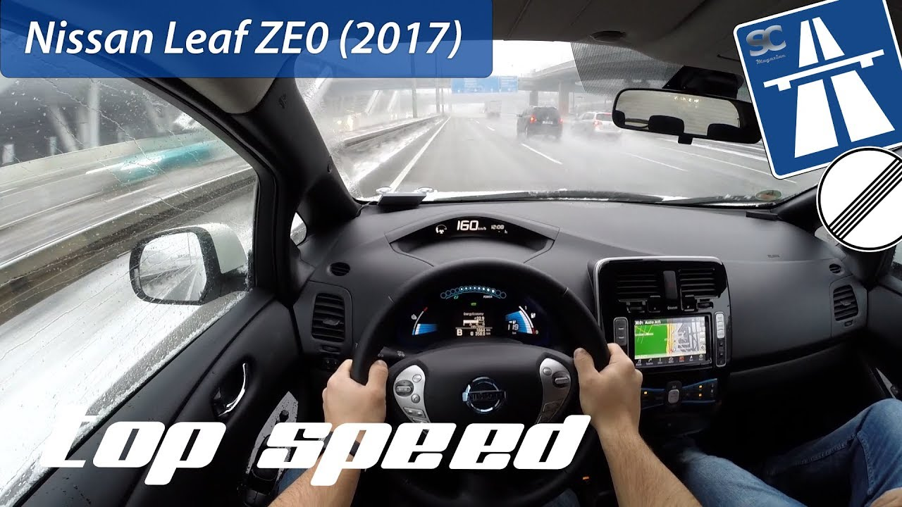 Nissan Leaf ZE0 (2017) on German Autobahn - POV Top Speed Drive ...