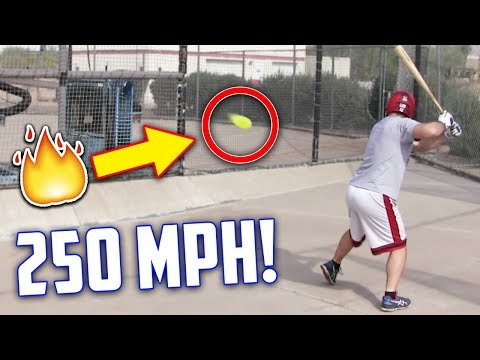 Hitting A 250 MPH Fastball | IRL Baseball Challenge (Inspired by Stanley Anderson)
