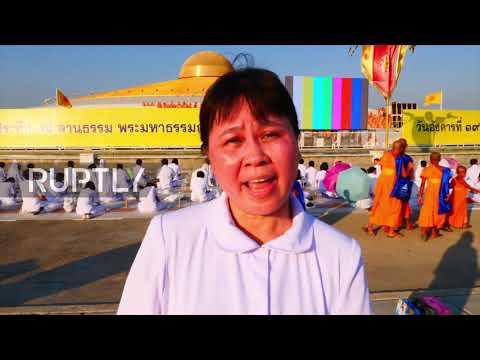 Flipboard Thailand Buddhists Celebrate Full Moon Festival At Wat