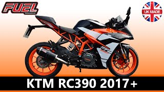 2017 KTM RC390 Diablo Black Stainless Oval MicroMini Exhaust - Fuel Exhausts (Also RC125)