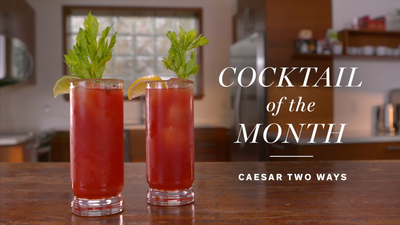 How To Make A Caesar Two Ways Cocktail Recipes