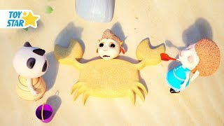 New 3D Cartoon For Kids ¦ Dolly And Friends ¦ DOLLY BECOMES A MERMAID ❤ KIDS PLAYING WITH SAND #157