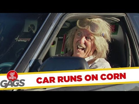 Car Runs On Corn Prank