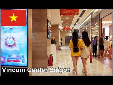 Saigon District 1 - Walking Through Vincom Center In Ho Chi Minh City, Vietnam