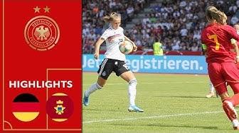 Deutschland - Montenegro 10:0 | Highlights | Frauen EM-Qualifikation