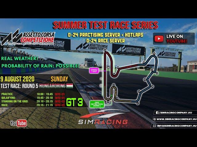 Sim Racing Company - GT3 Test Race 5: Hungaroring