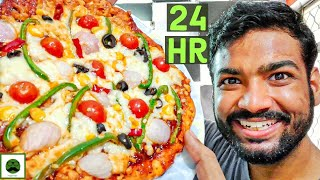 I only ate PIZZA for 24 hours Food Challenge| PIZZA Recipe | Veggie Paaji