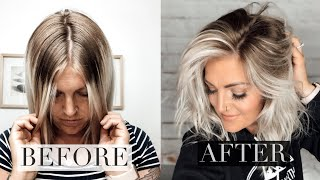 EASY DIY BABYLIGHTS HAIR TUTORIAL TO BLEND OUT ROOTS