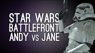 Star Wars Battlefront Gameplay: Andy vs Jane on Endor (Xbox One Gameplay)