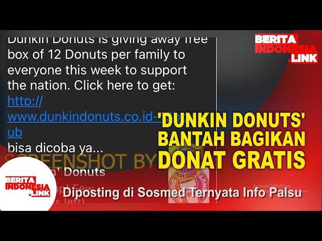 Bagi-Bagi Donat Gratis Hoaks