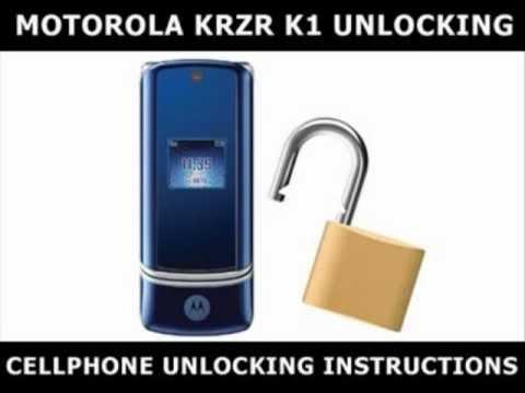 How to Unlock Any Motorola KRZR K1 Using an Unlock Code
