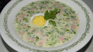 Окрошка на сыворотке Как приготовить (How to cook hodgepodge Okroshka)