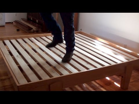 02 How To Build A Bed Platform Bed Assembly Youtube