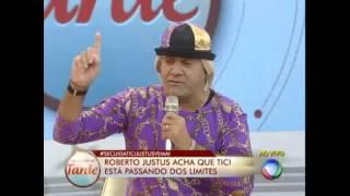 barraco deputado tiririca se irrita com britto junior e roberto justos programa da tarde 2013